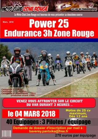 power 25 MC zone rouge spirit motor